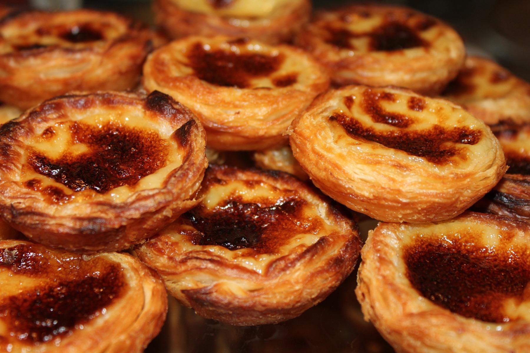 Tartaletas de crema portuguesa