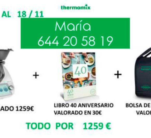 Llévate tu Thermomix® tm6 con bolsa de transporte y libro 40 aniversario GRATIS