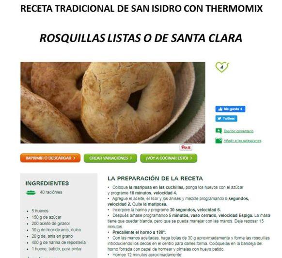 RECETA DE ROSQUILLAS DE SAN ISIDRO CON Thermomix®