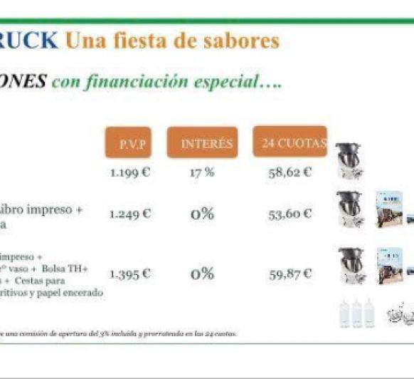 Financiación con 0% de interés hasta el 9 de julio