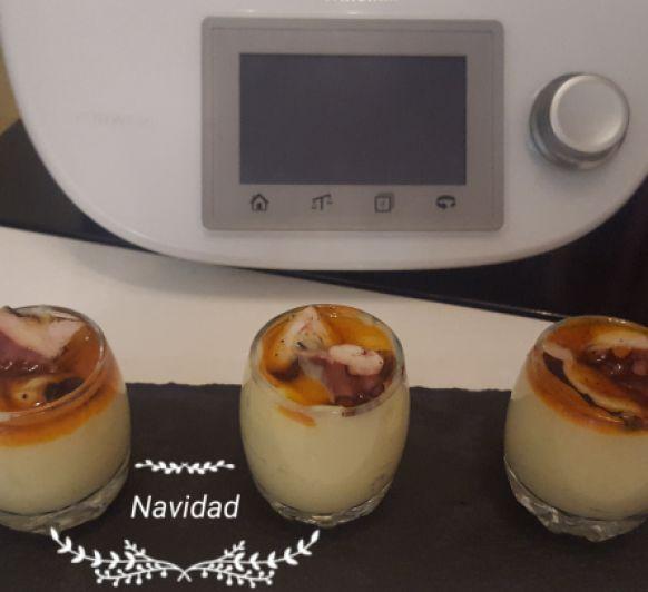 Emulsión de patata con pulpo