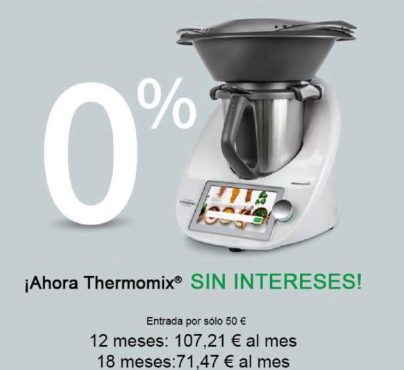Compra tu Thermomix® tm6 sin intereses